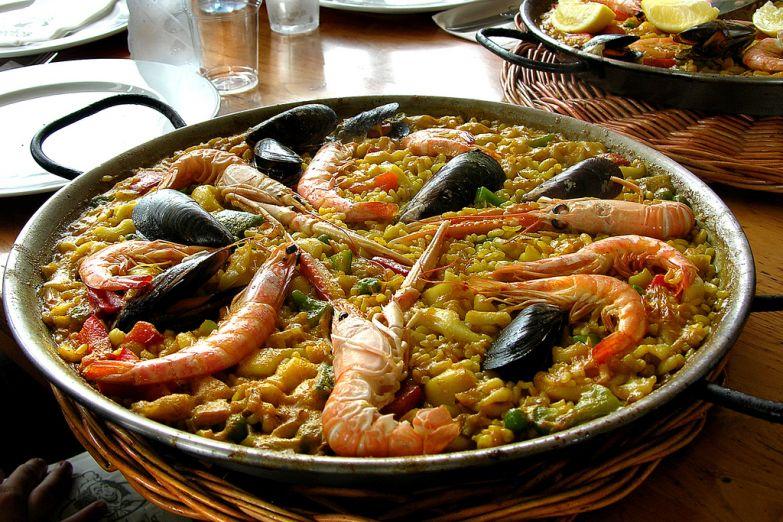 Национальное блюдо Валенсии - паэлья