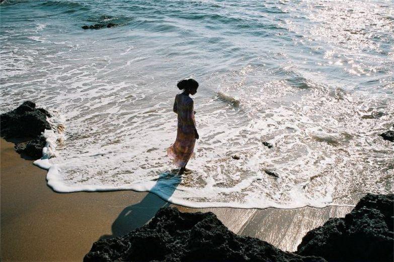 Закат на пляже Анджуна