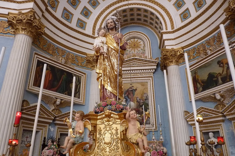 Статуя святого Иосифа в Ротонде Успения Богородицы
