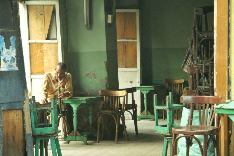 Интерьер кафе в Асуане