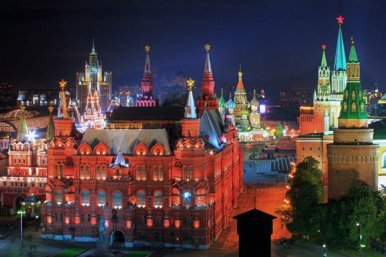 Красная Площадь ночь
