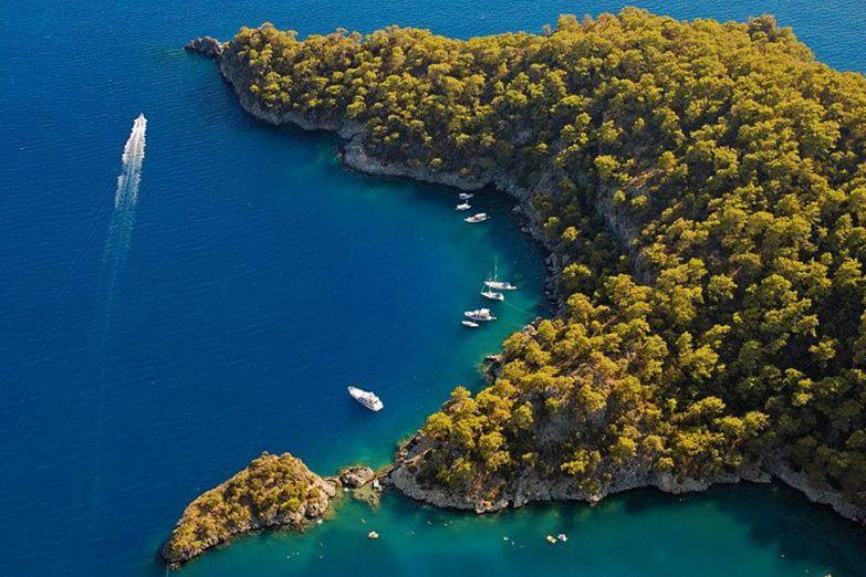 Прогулка на яхтах в Турции