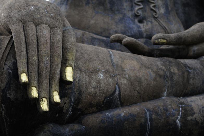 Деталь статуи Будды