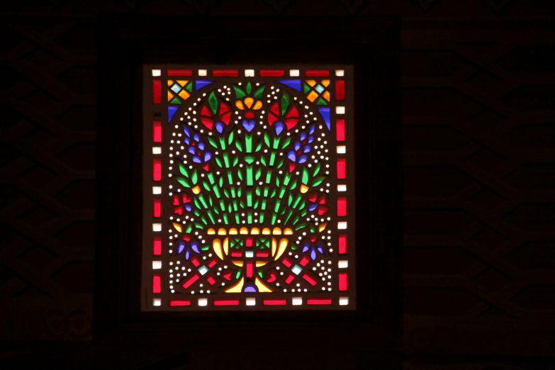 Витраж в коптской церкви