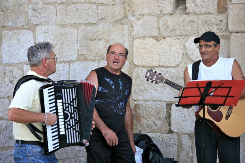Уличные музыканты в Сплите