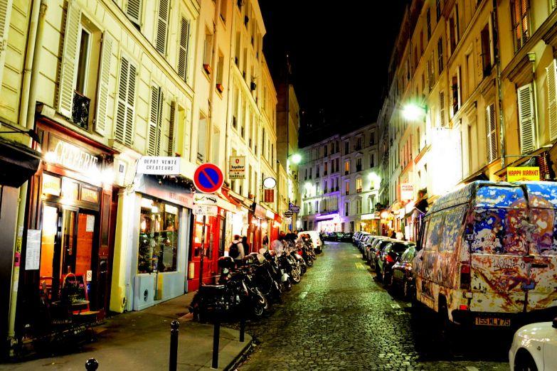 Ночные улицы Парижа