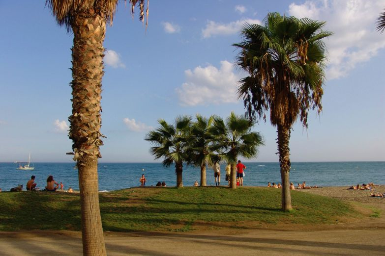 Пляж в Малаге