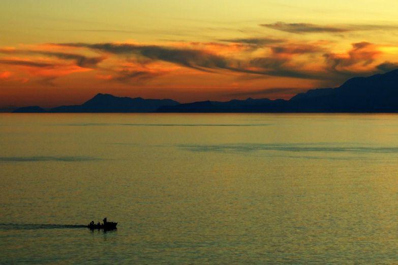 Вечернее море в Анталии
