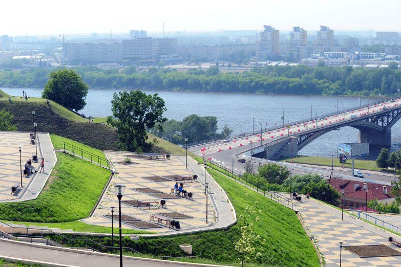 Парк на берегу Волги