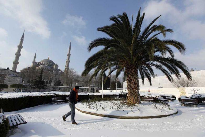Погода в Стамбуле - снежная зима