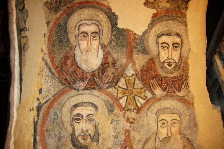 Роспись в монастыре св. Антония