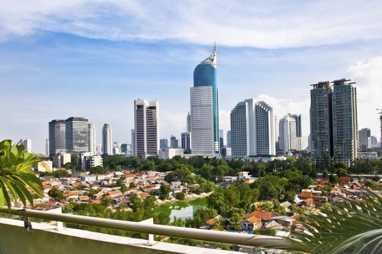 Панораа центра Джакарты