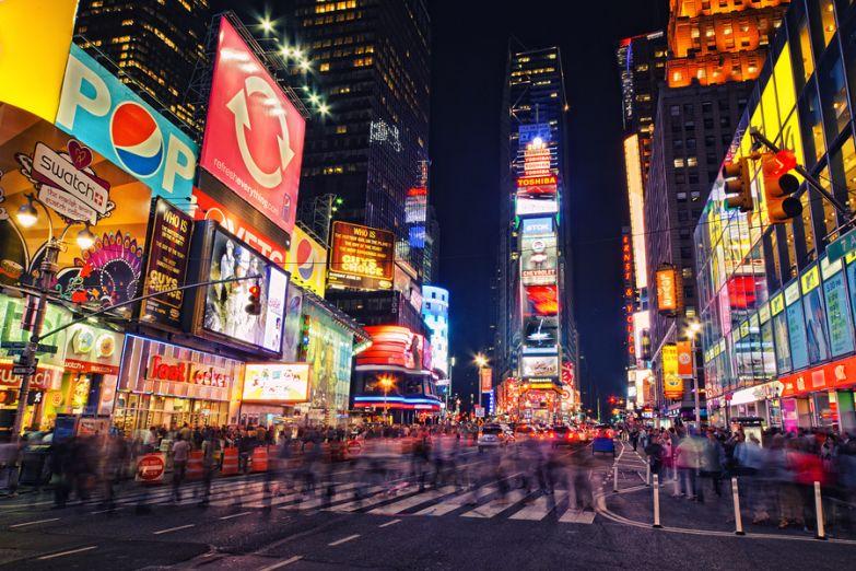 Таймс-Сквер в Нью-Йорке, США