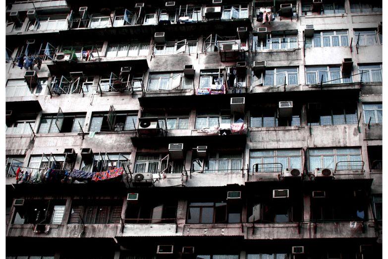 Рабочие кварталы на окраине Гонконга