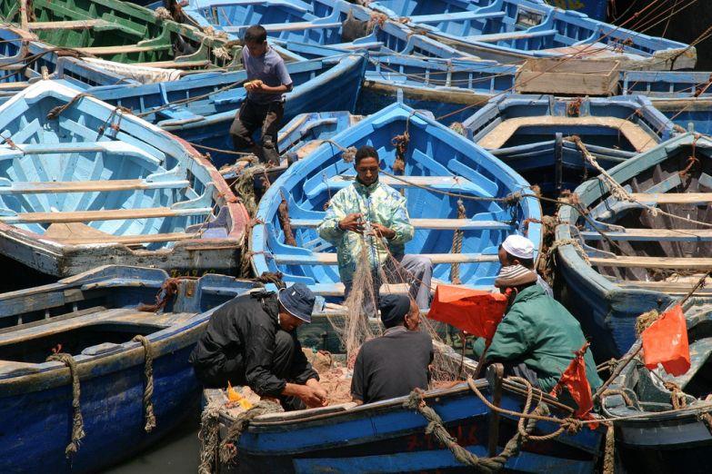 Лодки в городе Эс-Сувейра