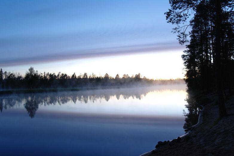 Восход над Ладожским озером