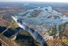 Водопад Виктория - вид с вертолета