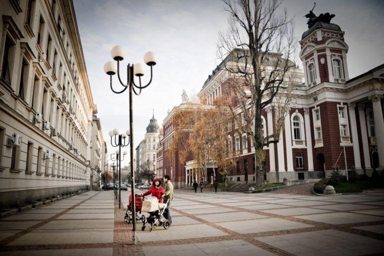 Городская улица в Софии