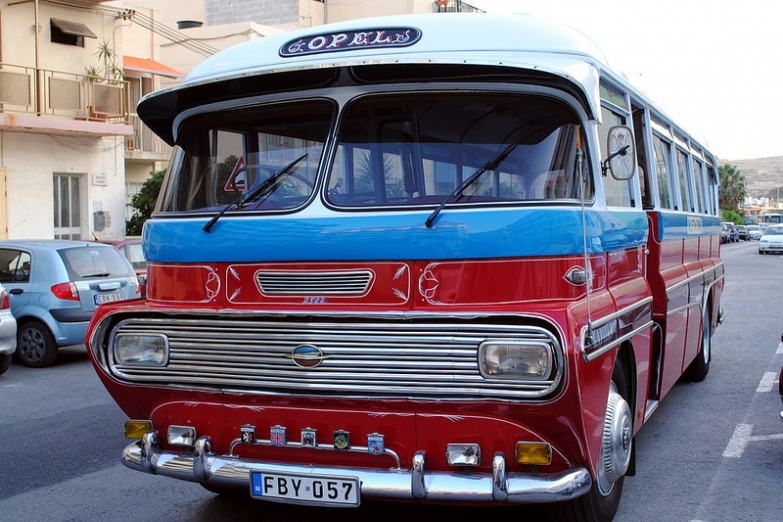 Английский ретро-автобус