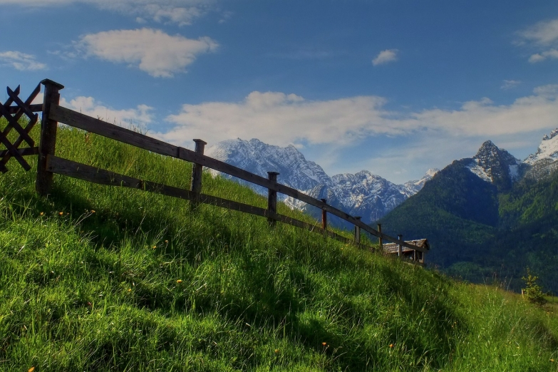 Пейзаж близ баварского города Берхтесгаден