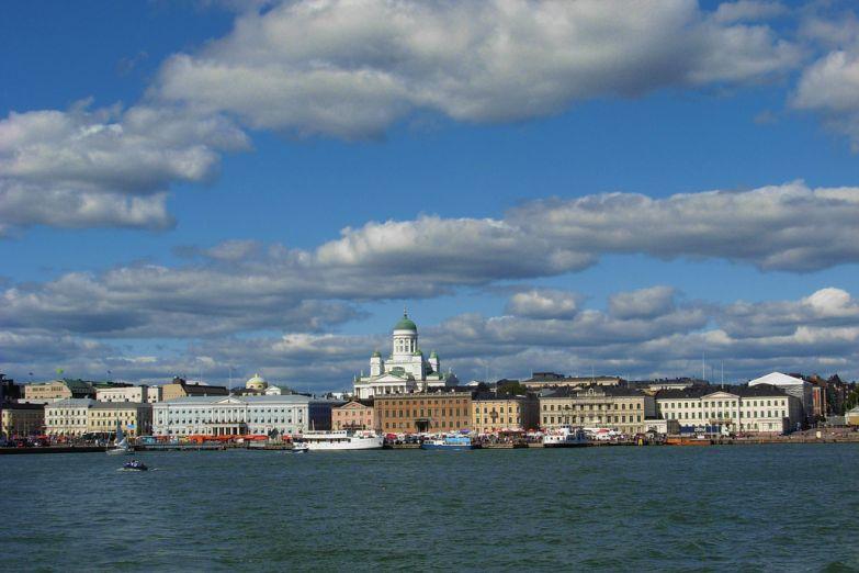 Вид на Хельсинки со стороны моря