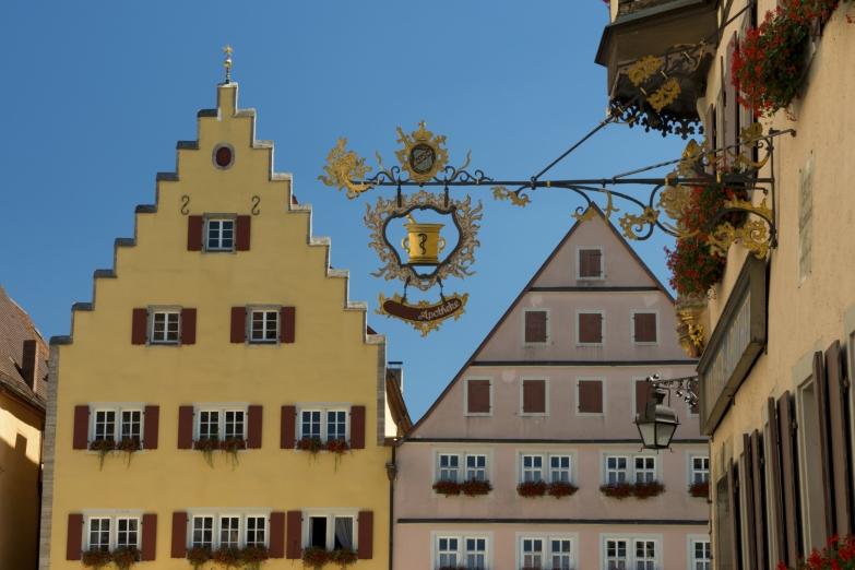 Старинная архитектура города Ротенбург-на-Таубере
