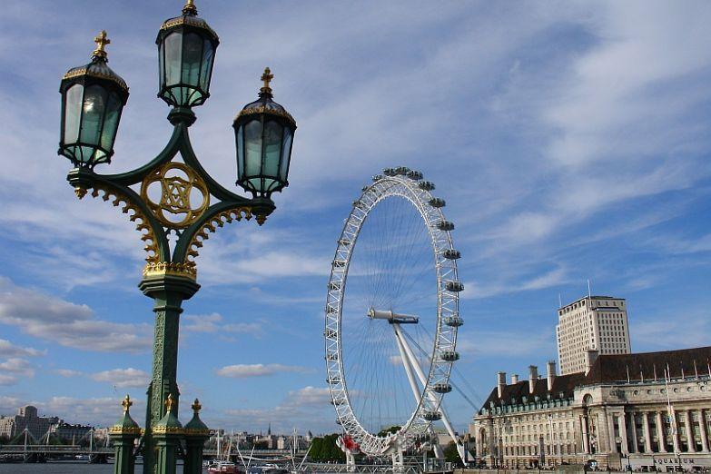 Вид с Вестминстерского моста в Лондоне