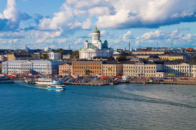 Панорама Хельсинки с моря