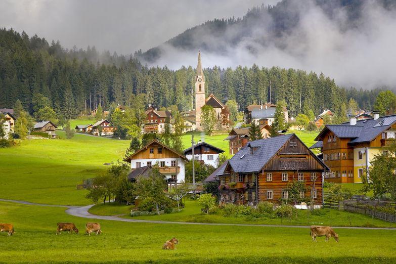 Альпийский пейзаж в Австрии