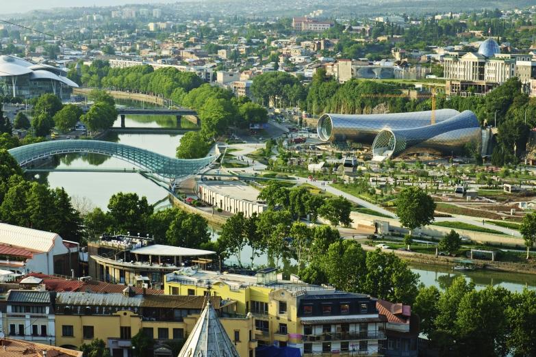 Панорама центра Тбилиси