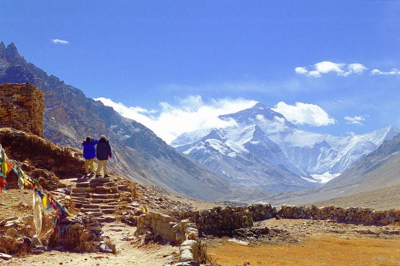 Туристы на Тибете