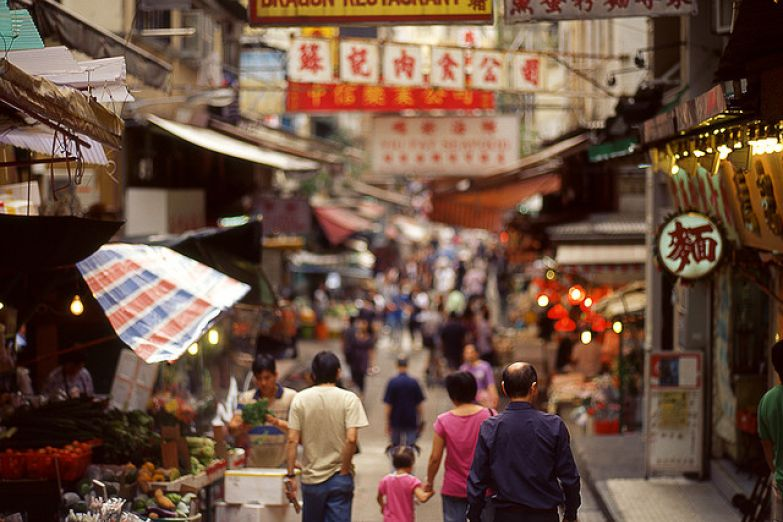 В старом квартале Гонконга