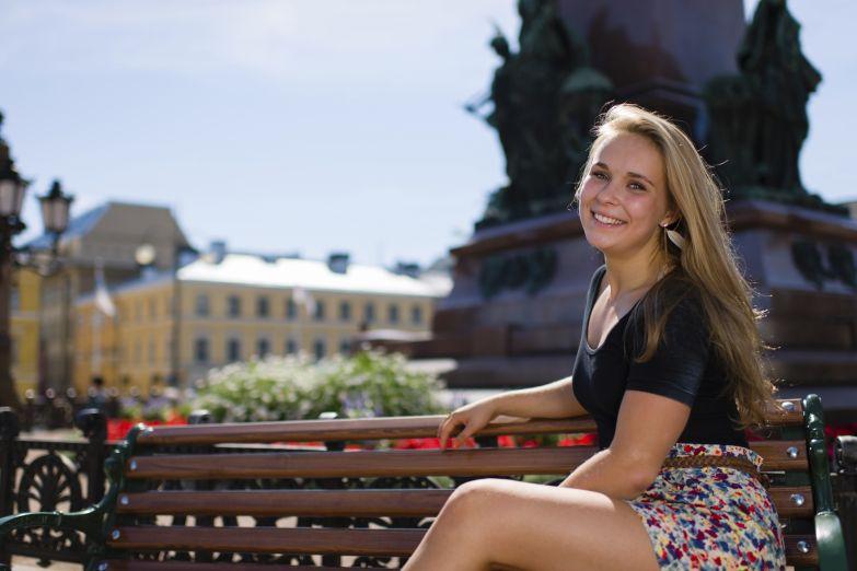 Очаровательная жительница Хельсинки