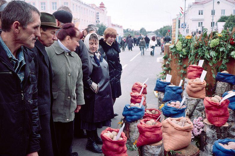 На рынке в Белоруссии