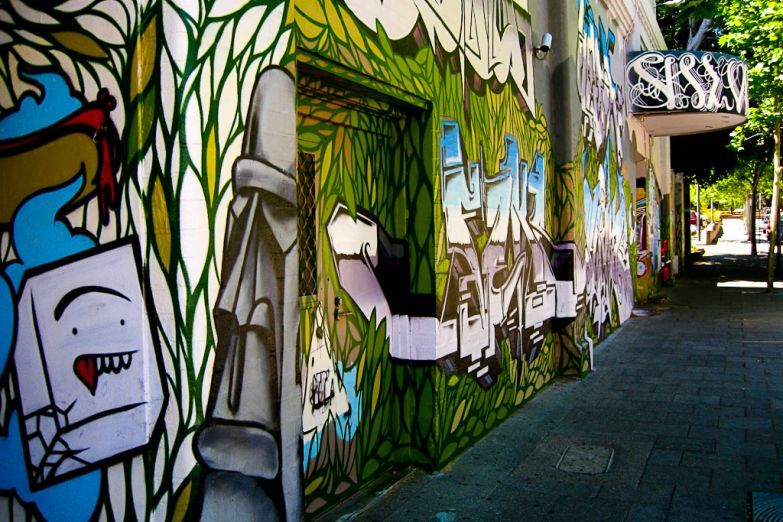 Граффити на улицах города