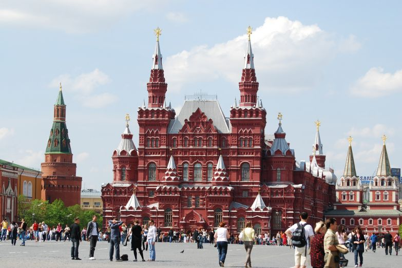 Красная Площадь в выходной день