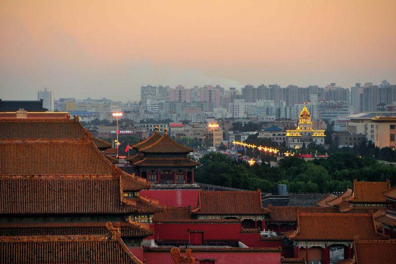 Вид на Пекин из Запретного города