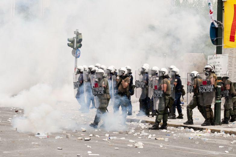 Забастовки в Афинах