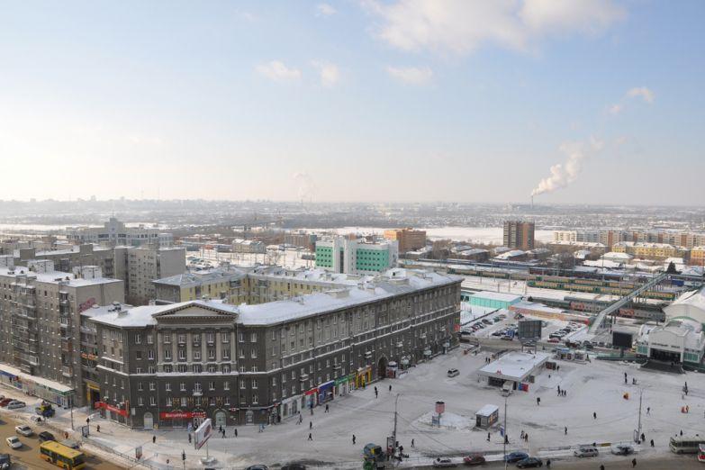 Вид на Новосибирск