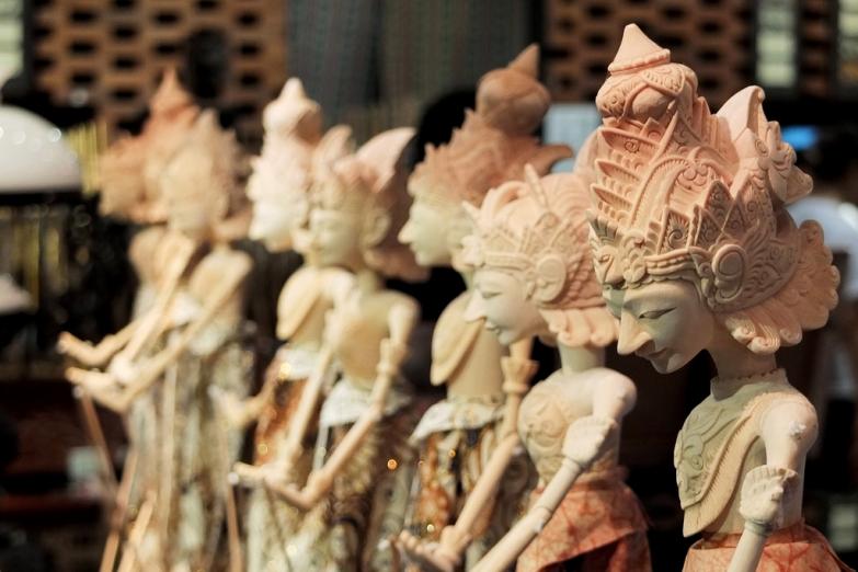 Традиционные куклы-марионетки с Бали