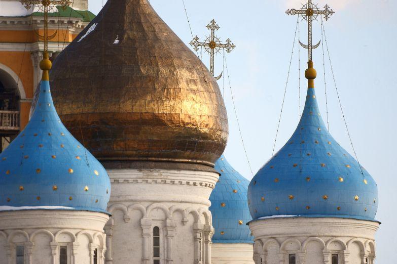 Купола Новоспасского монастыря