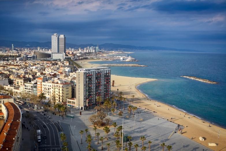 Городской пляж Барселоны
