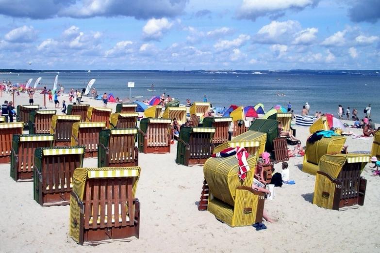 Пляж на островеУзедом в Балтийском море