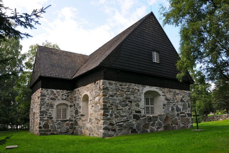 Старинная церковь Messukylä в Тампере