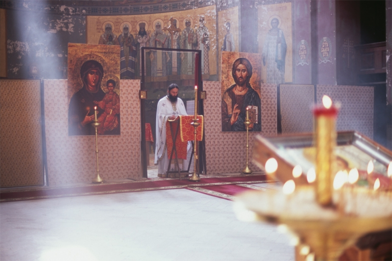 Служба в Новоафонском монастыре