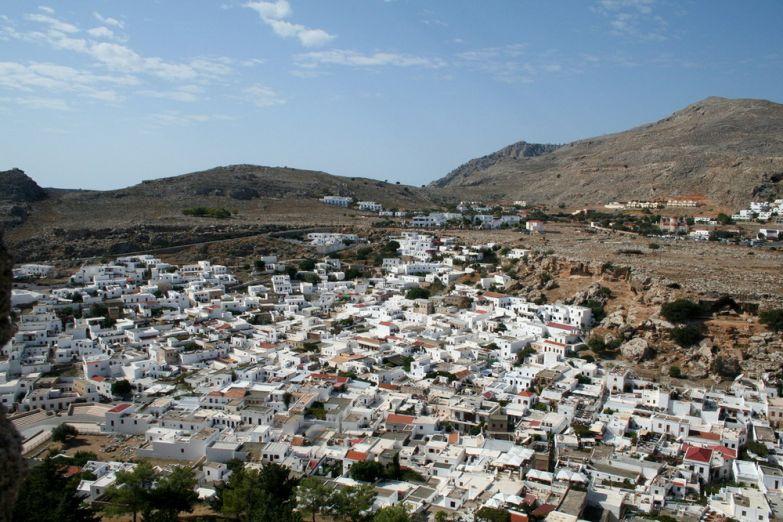 Вид на деревню Линдос