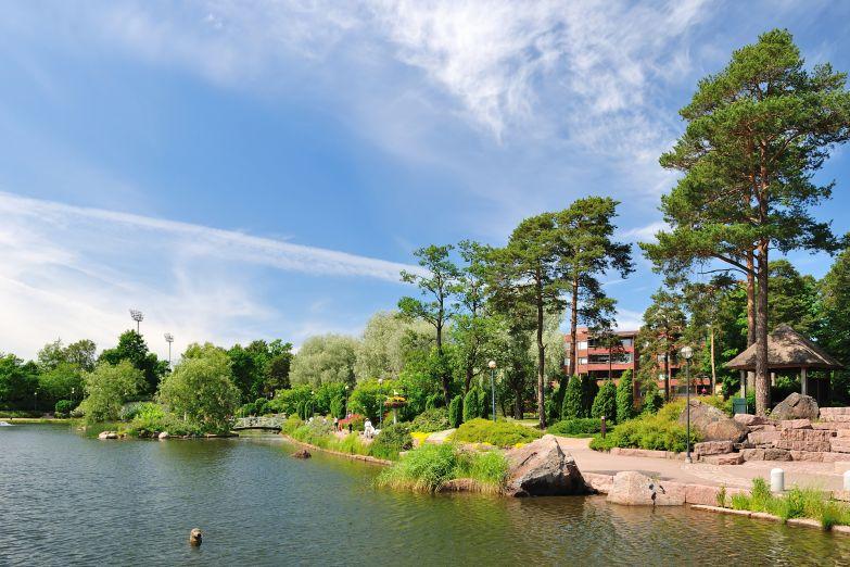 Парк в городе Котка на юге страны
