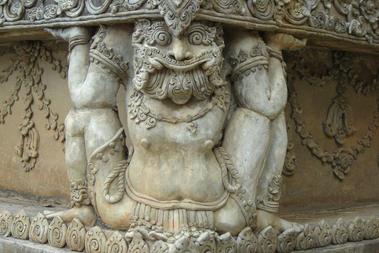 Деталь храма на границе Тайланда и Лаоса
