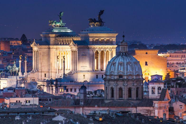 Вид на вечерний Рим