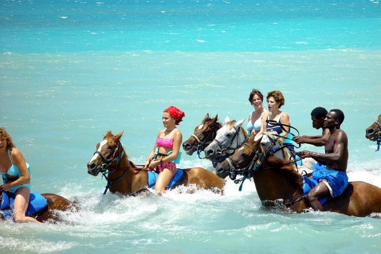 Купание на лошадях